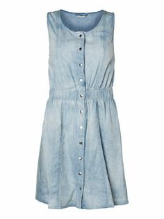 NANA S/L DRESS - NM, Light Blue Denim, main