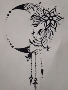Henna Moon, Wicca Tattoo, Moon Mandala, Spine Tattoos For Women, Tattoo People, Moon Tattoo Designs, Art Painting Gallery, Future Tattoos, Tattoo Drawings