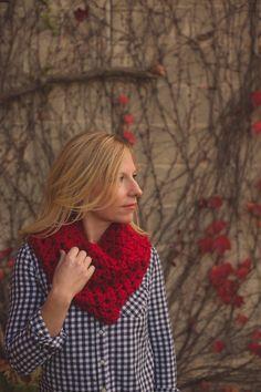 the denver warmer // acrylic red by OwlsNestCrochet on Etsy