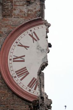 """Ferrara, Italy (via Quake in Italy - Times Union) I think this is what they call """"half time"""""""