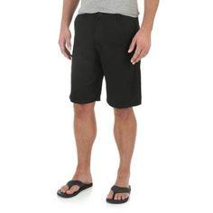 Wrangler Men's Advanced Comfort Flat Front Short, Size: 36, Black