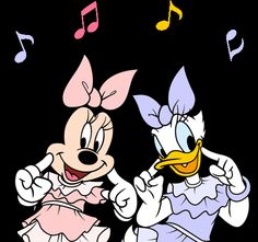 Minnie & Daisy dancing along to their favorite tune. Mickey Mouse E Amigos, Mickey Mouse And Friends, Mickey Minnie Mouse, Disney Mickey, Disney Art, Disney Cartoon Characters, Disney Cartoons, Pato Donald Y Daisy, Gif Bonito