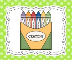 Here's a simple set of visual direction cards for use with primary and ESL students. Kindergarten Pictures, Kindergarten Classroom, Classroom Ideas, Free Clipart For Teachers, English Phonics, Ell Students, Literacy Games, Color Crayons, Free Teaching Resources