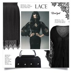"""""""BUTTERFLY LACE TOP"""" by larissa-takahassi ❤ liked on Polyvore"""
