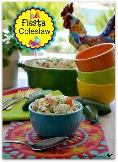 Fiesta Coleslaw - a delicious recipe for Cinco de Mayo or your next Taco Night!