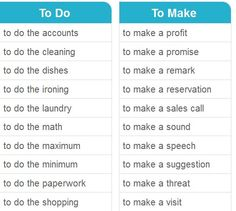 To do To make   #learnenglish  http://www.uniquelanguages.com