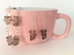 Smoky Quartz bracelet and earrings with magical power