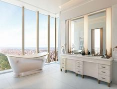 Apartamento New York, 111 West 57th Street, Stand Alone Tub, Private Dining Room, Treatment Rooms, Guest Bedrooms, Modern Bedrooms, Pent House, Small Bathroom