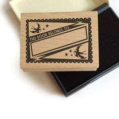 Swallow Bookplate Stamp + Ink