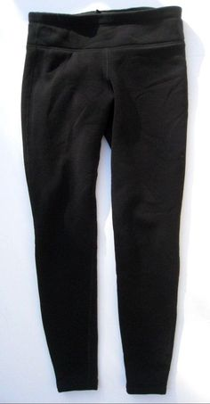 Athleta Polartec Power Stretch Tight Black Leggings Pants Fleece lined Tights S #Athleta #PantsTightsLeggings