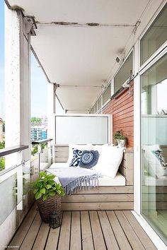 "relaxing nook on balcony-- from ""inside homes"" on Tumblr"
