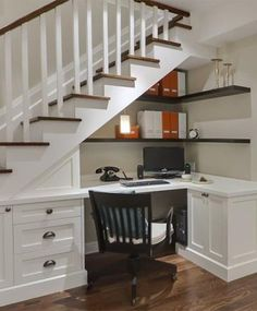 Decor:Under The Stairs Office Small Work Space Creative Work Space Ideas Simple Home Office Design Amazing Functionality of the Small Space Under the Stairs
