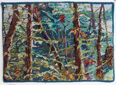 'Rainforest' designed & hooked by Tanya Graham