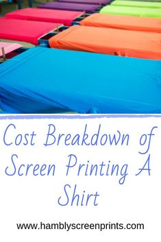 """Wondering what affects the cost of your custom shirt or t-shirt order? Here's the ultimate guide with the answer to your question. Actually, people often ask us, """"what affects the prices of your screen printing Screen Printing Machine, Screen Printer, Screen Printing Shirts, T Shirt Printing Machine, Printing Ink, Printing Services, T Shirt Diy, Screenprinting, Flowers"""