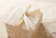 Gift wrapping, lace, ribbon