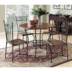 Dorel Living 5Piece Dinette Set Wood and Metal Suited For The Kitchen And Dining Room -- Continue to the product at the image link.Note:It is affiliate link to Amazon.