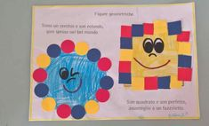 Preschool Learning, Learning Activities, Preschool Activities, Diy And Crafts, Crafts For Kids, Arts And Crafts, Math School, Learning Shapes, Daycare Crafts