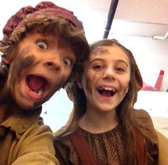 Gaten Matarazzo and Mia Sinclair Jenness :) love these two... They were Gavroche and Little Cosette both times I went to se the show (and were AMAZING)