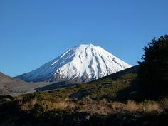 Over night frost, clear blue sky and Mt Ngauruhoe.