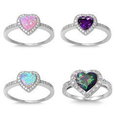Heart Design Engagement Ring