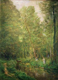 Charles-François DAUBIGNY - Sous-bois à Valmondois