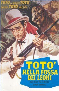 Totò nella fossa dei leoni Leoni, Attore, Classic Movies, Film Movie, Atlantis, Illustration, Movie Posters, Vintage, Posters