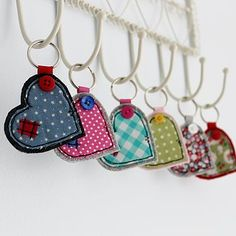 wide heart fabric key ring by honeypips | notonthehighstreet.com