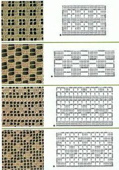 Filet crochet patterns for crochet curtains •✿•  Teresa Restegui http://www.pinterest.com/teretegui/ •✿•