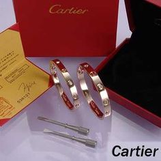 Cartier Leve Lovers Bangles Pink Gold Diamond (Double)  $ 89.99