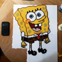 SpongeBob hama beads by cazzhi