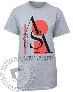 Alpha Sigma Alpha Abstract Tee by Adam Block Design | Custom Greek Apparel & Sorority Clothes | www.adamblockdesign.com