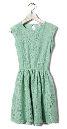 Vintage Lace Dress Mint