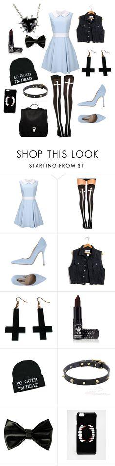 """Light blue pastel goth"" by helenateesalu ❤ liked on Polyvore featuring Chicnova Fashion, Norma J.Baker, Manic Panic, Kill Star, ASOS and Proenza Schouler"