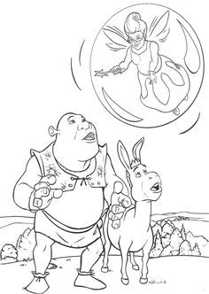 coloring page shrek coloring pages 21