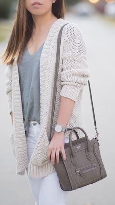 Celine nano luggage and winter white