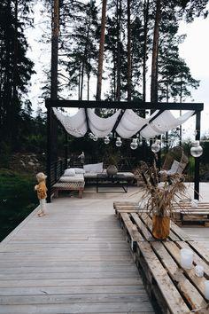 Patio Gazebo, Outdoor Pergola, Backyard Landscaping, Outdoor Spaces, Outdoor Living, Outdoor Decor, Terrace Garden, Garden Pool, Patio Design