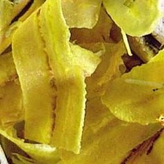How to make Plantain Chips - Mariquitas de Platano - Simple, Easy-to-Make Cuban, Spanish, and Latin American Recipes with Photos