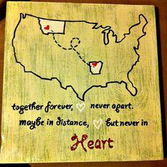 Long Distance love, need global map