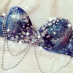 Galaxy Rave Bra by TheLoveShackk on Etsy
