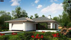 Общая площадь 141,2 м²  Проект дома Z367 — стандартный проект небольшого одноэтажного дома с гаражом для маленькой семьи.