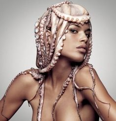 Use pearls in place of suction cups. gothic octopus costume - Google Search