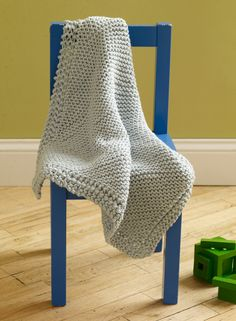 martha stewart loom knitting projects | Free Loom Pattern L10388 Loom Knit Diagonal Baby Throw : Lion Brand ...