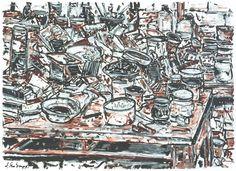 JAN SENBERGS (BORN 1939) Studio Table, 1984 - Price Estimate: $4000 - $5000