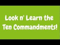 """Hand motions to learn 10 commandments. 1. No other gods-1 finger, #1 2. No idols- 2 fingers, bend 2 fingers like bowing down 3. Don't take Lord's name in vain- 3 fingers, hold 3 fingers to mouth """"shhh"""" 4. Keep Sabbath- 4 fingers, put head on fingers like resting 5. Honor parents- 5 fingers, military salute """"yes sir"""" 6. No murder-6 fingers, finger like a gun shooting hand 7. No adultry -7 fingers, palm up w/2 fingers walking down aisle 8. No stealing- 8 fingers, hand grabbing other 3 fingers…"""