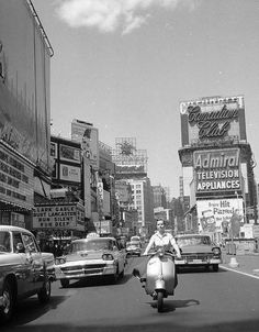 NYC (close to Times Square), 1958. #NewYorkNewYork