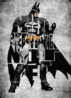 Typographic Batman