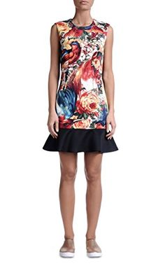 """Cool Just Cavalli Women's Multi-Color Floral Sleeveless Sheath Dress US S IT 40 Material: 85% Polyester 15% Spandex Made in Italy Bust: 16"""""""