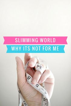 Slimming World Why its not for me