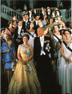 From 1962, the massed tiaras of most of Europe gathered in Athens to celebrate the wedding of Princess Sofia of Greece to Juan Carlos of Spain on 14 May 1964