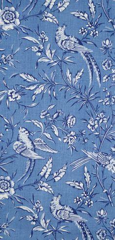 Scalamandre Aviary linen print